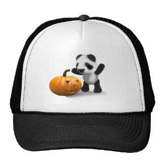3d Panda Pumpkin Trucker Hat