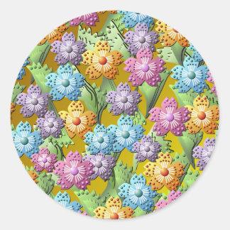 3D Paper Flower Garden Sticker