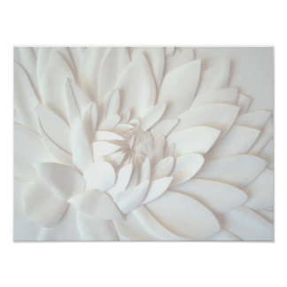 3d paper flower sculpture poster