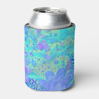 3D Pastel Flower Psychedelic Can Cooler