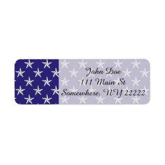 3D Patriot Stars on Blue Label