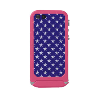 3D Patriot Stars on Blue Waterproof Case For iPhone SE/5/5s