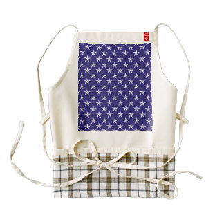 3D Patriot Stars on Blue Zazzle HEART Apron