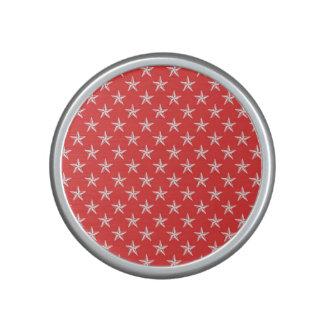 3D Patriot Stars on Red Bluetooth Speaker