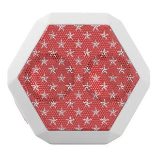3D Patriot Stars on Red White Boombot Rex Bluetooth Speaker