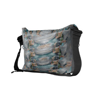 3d Pearl Precious Stone Collection Messenger Bags