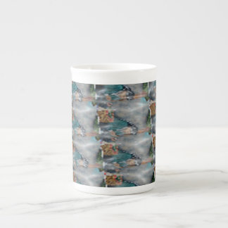 3d Pearl Precious Stone Collection Bone China Mugs
