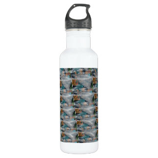 3d Pearl Precious Stone Collection Stainless Steel Water Bottle