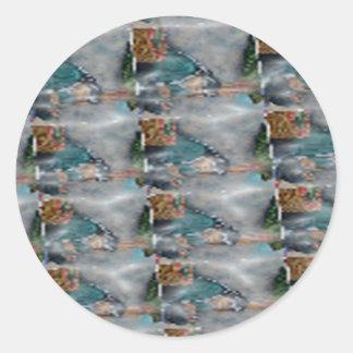 3d Pearl Precious Stone Collection Round Sticker
