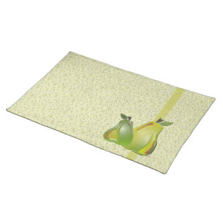 3D Pears (water specks) Placemat Cloth Placemat