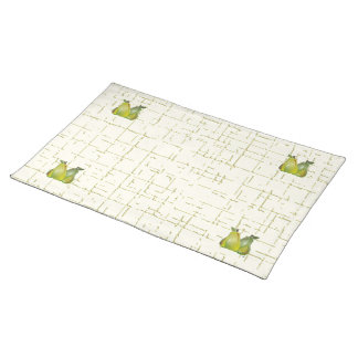 3D Pears (WC) Cloth Placemat