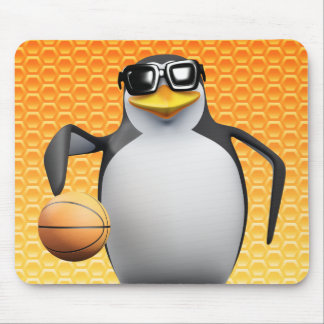 3d Penguin Basketball Player Mouse Pad