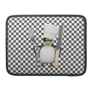 3d Penguin Chef with cutlery Sleeve For MacBook Pro