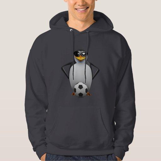 3d Penguin Footballer Hoody