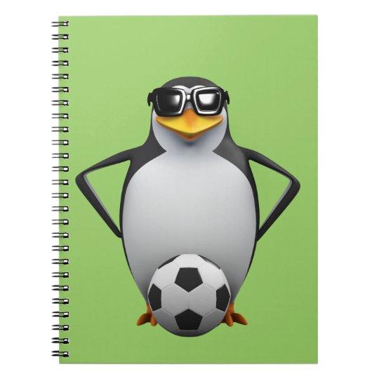 3d Penguin Footballer Notebook