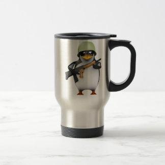 3d Penguin Soldier Advances (Any Color U Like!) Travel Mug