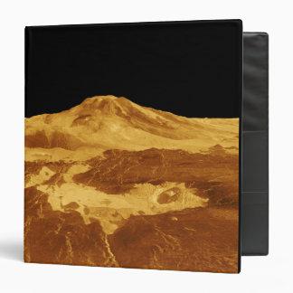 3D Perspective View of Maat Mons on Venus 3 Ring Binder