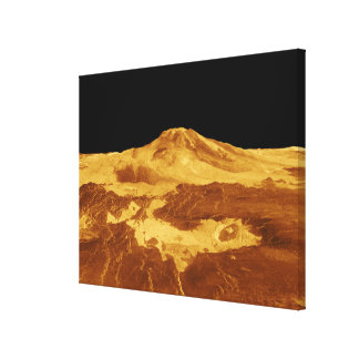 3D Perspective View of Maat Mons on Venus Gallery Wrap Canvas