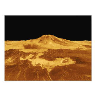3D Perspective View of Maat Mons on Venus Art Photo