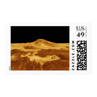 3D Perspective View of Maat Mons on Venus Postage