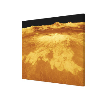 3D Perspective View of Sapas Mons on Venus Gallery Wrapped Canvas
