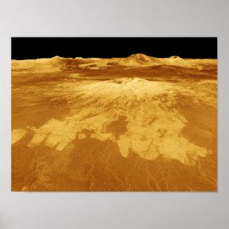 3D Perspective View of Sapas Mons on Venus Posters
