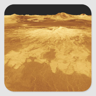 3D Perspective View of Sapas Mons on Venus Stickers