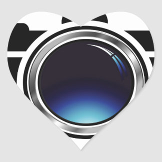 3d photography icon heart sticker