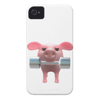 3d Piggy Weightlifter (Any Color U Like!) iPhone 4 Case