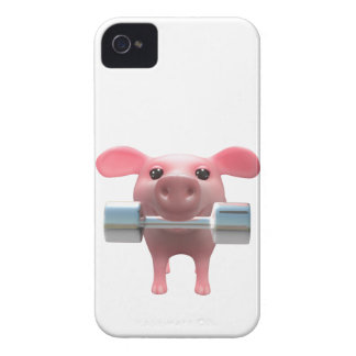 3d Piggy Weightlifter (Any Color U Like!) iPhone 4 Cover