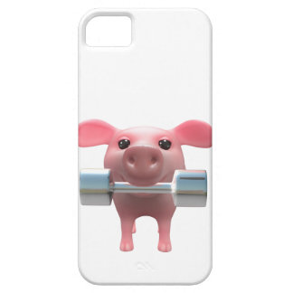 3d Piggy Weightlifter (Any Color U Like!) iPhone SE/5/5s Case