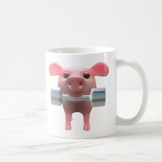 3d Piggy Weightlifter (Any Color U Like!) Mug