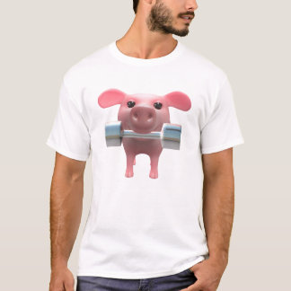 3d Piggy Weightlifter (Any Color U Like!) T-Shirt