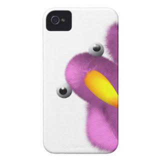 3d Pink Bird Peeping iPhone 4 Case-Mate Cases