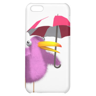 3d Pink Bird Umbrella iPhone 5C Cover