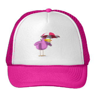 3d Pink Bird Umbrella Trucker Hat