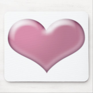 3D Pink Heart Design Mouse Pad