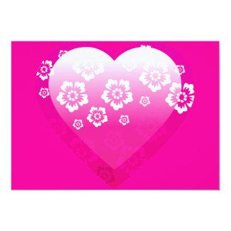 3D PINK HEART FLOWERS TROPICAL DIGITAL ICONS LOG CARD
