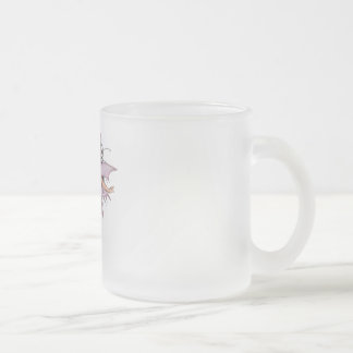3D Pink Pixie 1 Frosted Glass Coffee Mug