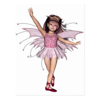 3D Pink Pixie 1 Postcard
