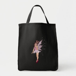 3D Pink Pixie 2 Grocery Tote Bag