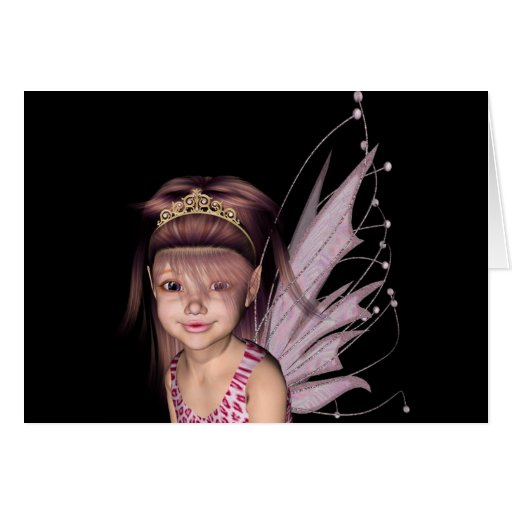 3D Pink Pixie 5 Greeting Cards
