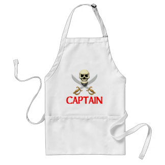 3D Pirate Captain Adult Apron