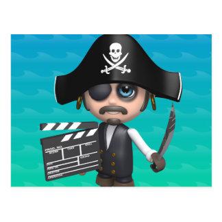 3d-Pirate-clapper Postcard
