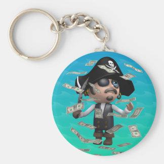 3d-Pirate-dollars Llavero Redondo Tipo Pin