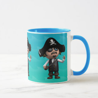 3d Pirate Looks Up (Any Color U Like!) Mug