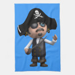 3d Pirate Looks Up Towels