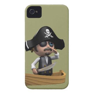 3d Pirate Ship Ahoy! (editable) Case-Mate iPhone 4 Case