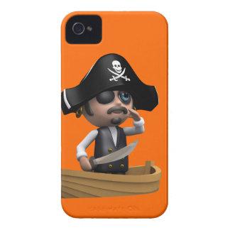 3d Pirate Ship Ahoy! (editable) iPhone 4 Case
