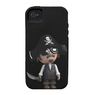3d Pirate sunglasses iPhone 4 Covers